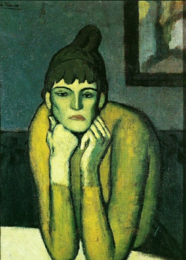 Pablo-Picasso-La-femme-au-chignon_1901